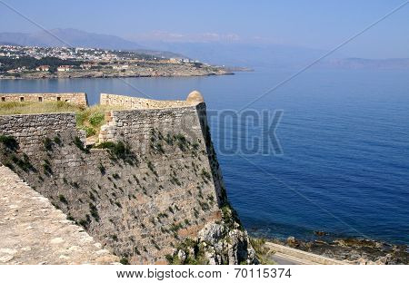 Fortress Fortezza In City Of Rethymno, Crete, Greece