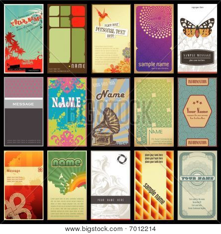 vertical business cards - set 2