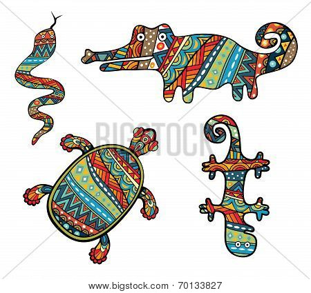 Patterned Reptiles