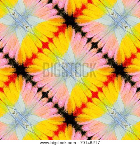 Beautiful Yellow and Pink Background Pattern made of butterfly's wing texture