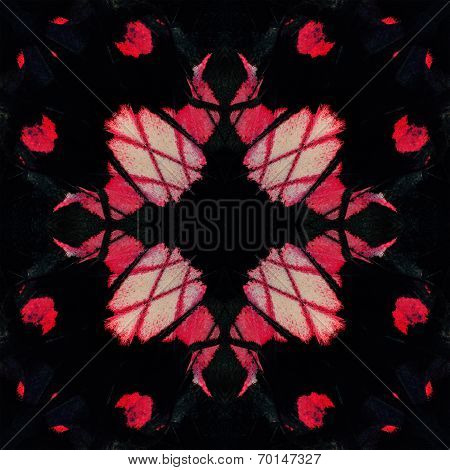 Black And Pink Background Made Of Adamson's Rose Butterfly's Wing Skin