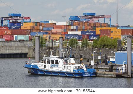 Hamburg-waltershof - Boat Of The River Police