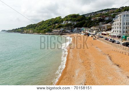 Ventnor beach Isle of Wight south coast of the island tourist town