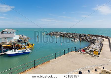 Ventnor harbour Isle of Wight south coast of the island tourist town