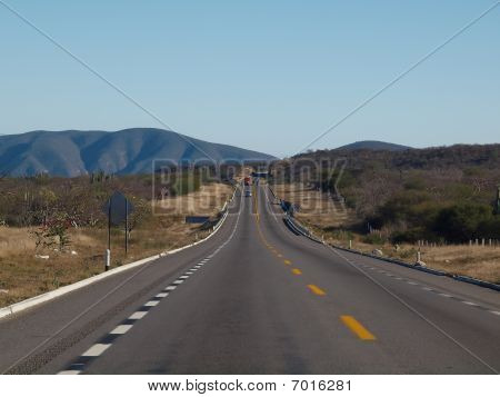 Mexican Landscape With Road