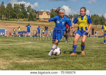 Girl With The Football