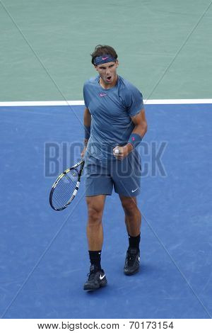 US Open 2013 champion Rafael Nadal during final match against Novak Djokovic
