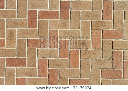 Brick Pavers Background Texture From Above