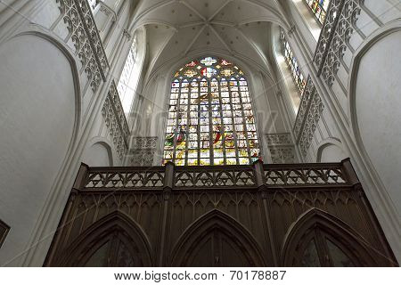 Interiors of Notre dame d'Anvers cathedral, Anvers, Belgium