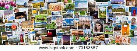 Collage Of Images Of A Persons Life In 3X1 Ratio