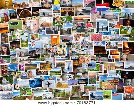 Collage Of Photos Of A Persons Life In 4X3 Ratio