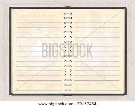 Blank Note Book Open