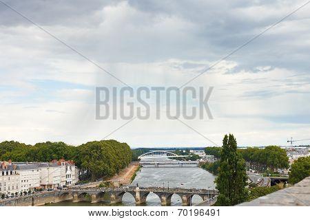 Bridges Pont De Verdun In Angers, France