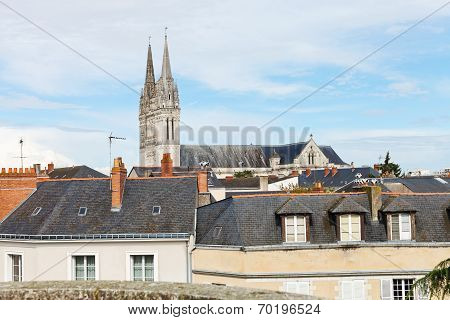 Saint Maurice Cathedral And Roofs In Angers