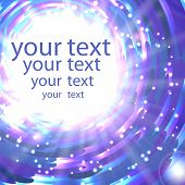 Abstract shimmering background in blue colors with place for your text poster