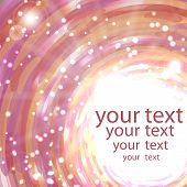 Abstract shimmering background in pink colors with place for your text poster