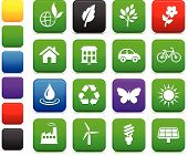 Original vector illustration: environment elements icon set poster