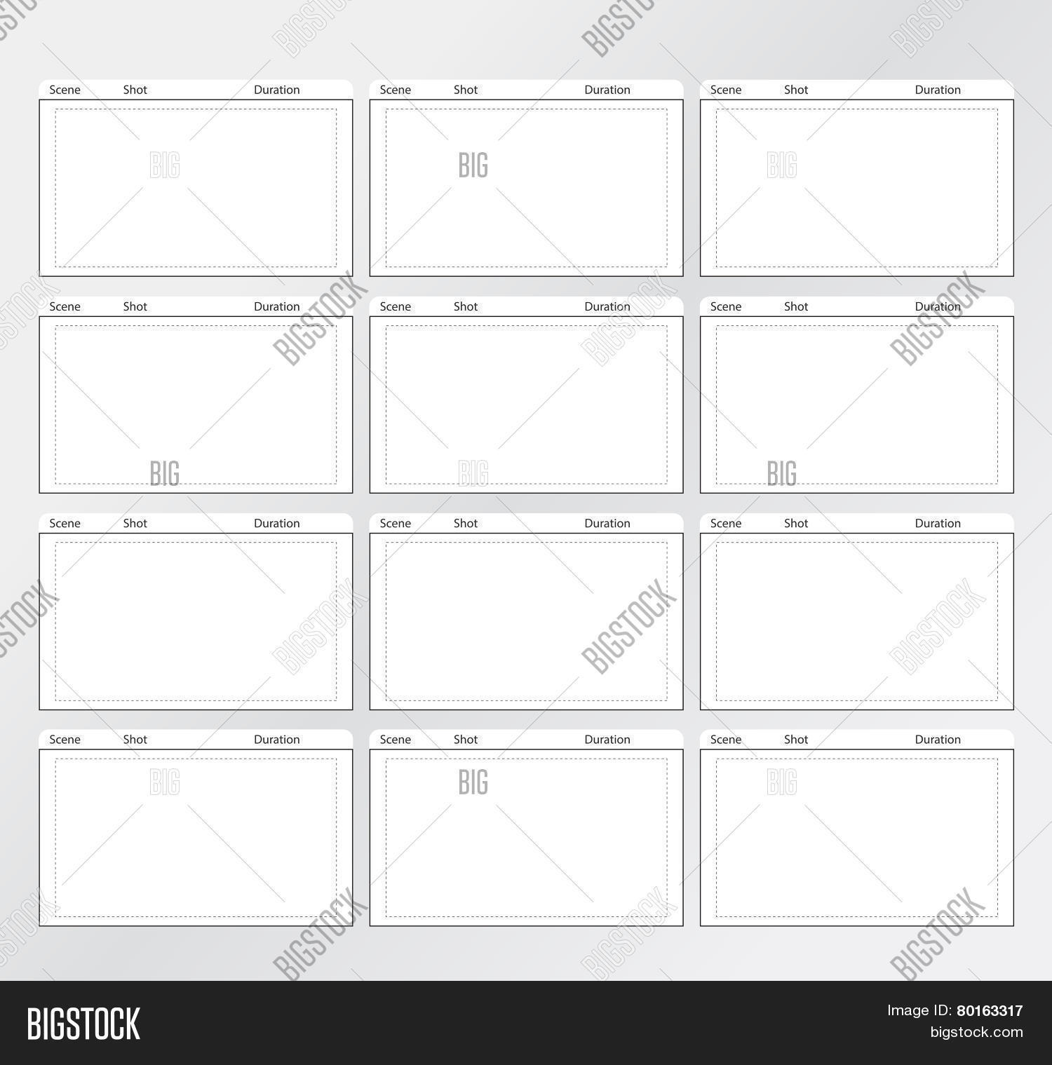 Storyboard template vector photo free trial bigstock storyboard template vertical 12 frames maxwellsz