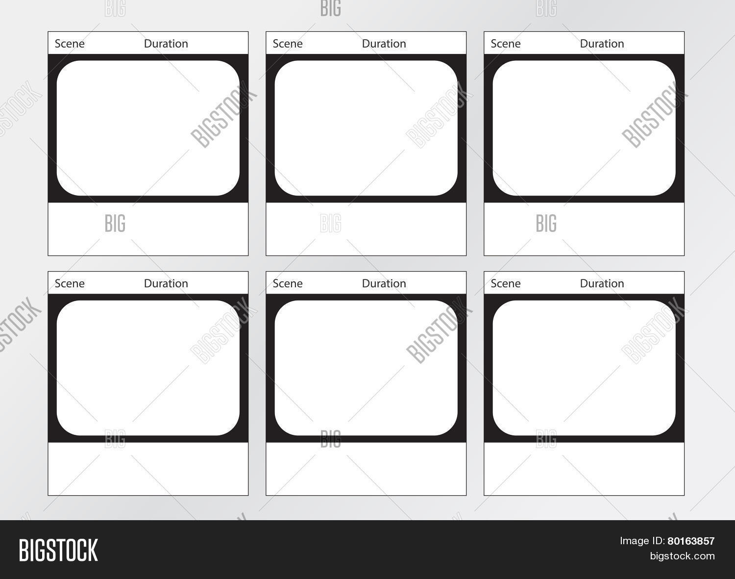 Tv commercial frame storyboard vector photo bigstock tv commercial frame storyboard template 6 frames saigontimesfo