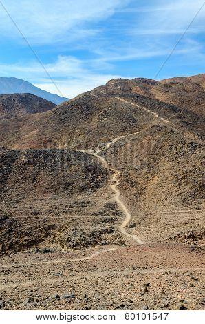 Path In The Barren Sinai Mountains