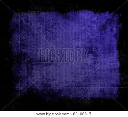 Grunge background texture with black frame