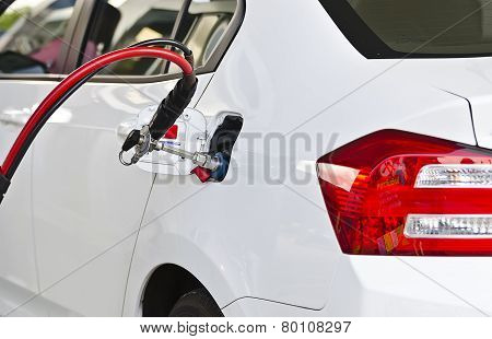 Fuel up the natural gas vehicle (NGV) at the station poster