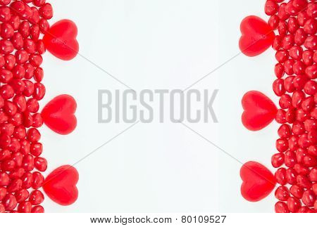 Valentine Day candy frame