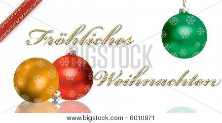 German Christmas greeting card