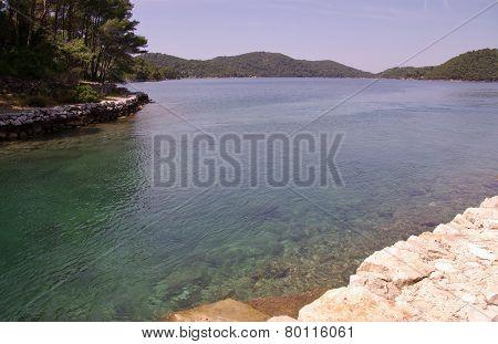 The saltlake of the Island Mljet