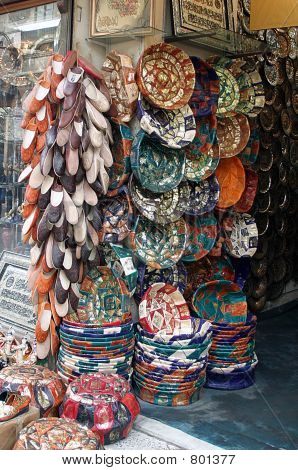 egyptian baskets and shoes