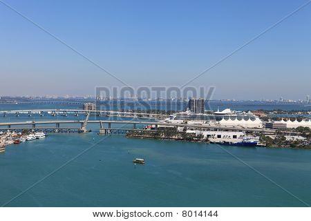 Aerial vie Port of Miami