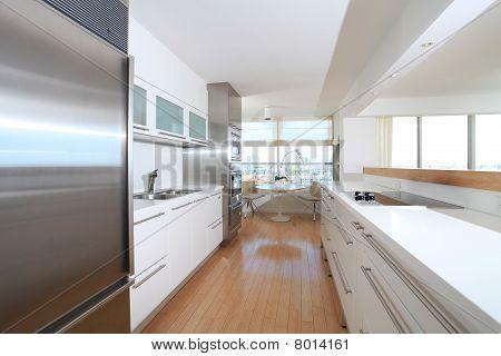 White Streamline Kitchen
