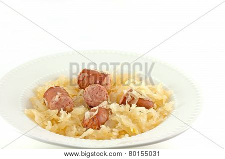 Baked Sauerkraut And Kielbasa
