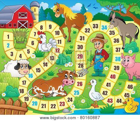 Board game theme image 6 - eps10 vector illustration.