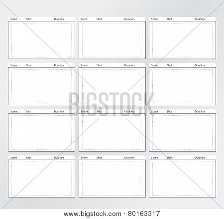 Storyboard Template Vertical 12 frames