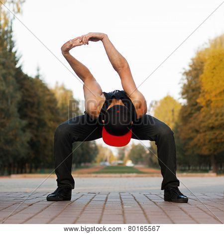 Young Dancer Workout. Outdoor sport