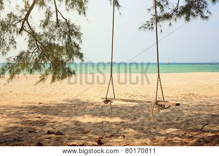 Swing At Seaside
