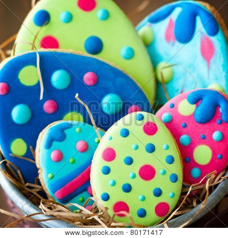 Colorful Easter egg cookies