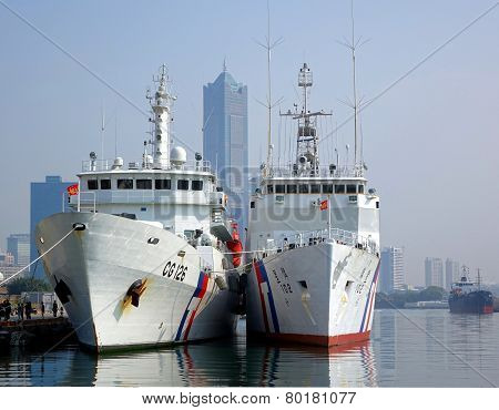 Two Large Coastguard Vessels
