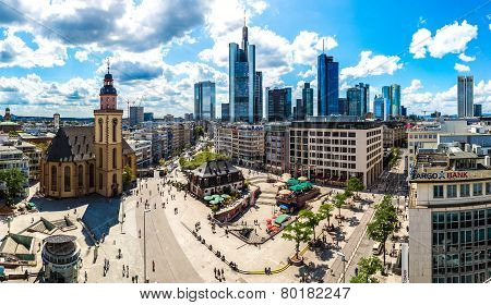 Ginancial District In Frankfurt