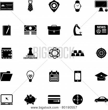 Businessman Item Icons On White Background