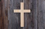 christian cross old wood wooden background christianity poster