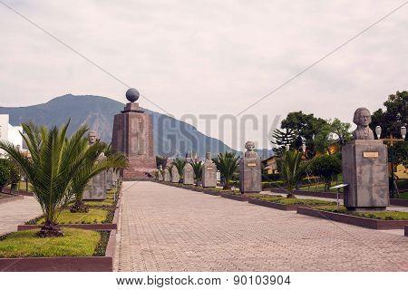 Mitad Del Mundo, Center Of The World In Ecuador, South America