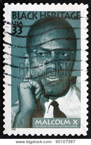 Postage Stamp Usa 1999 Malcolm X, Civil Rights Activist