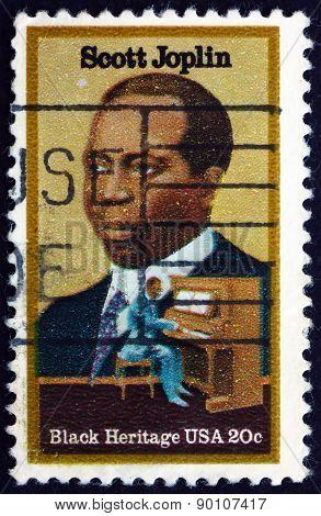 Postage Stamp Usa 1983 Scott Joplin, Ragtime Composer