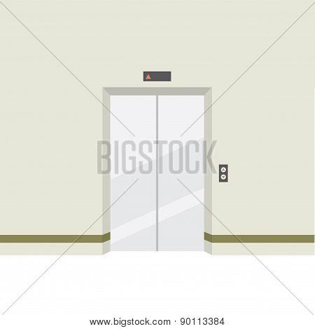 Closed Doors Elevator.