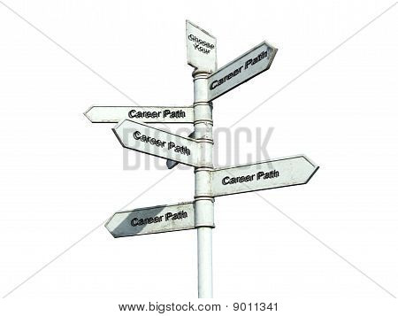 Choose a Career Path Sign