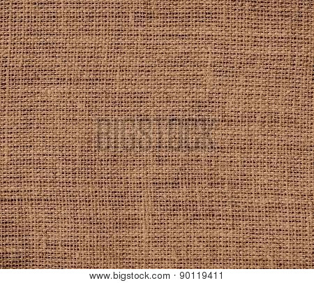 Cafe au lait color burlap texture background