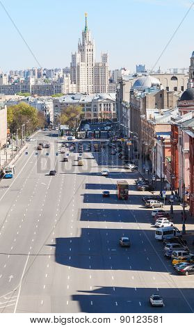 Urban Scenery With Lubyanka Square In Moscow