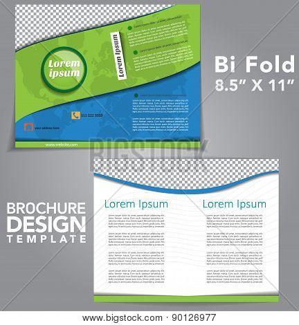 Bi Fold Brochure Vector Design